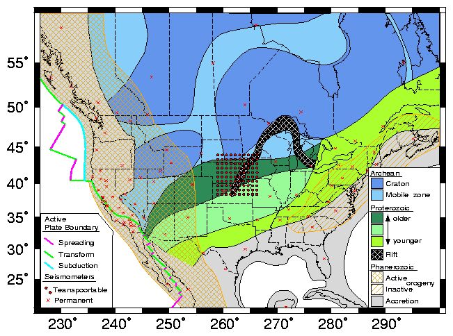 North American Tectonic Plate Map Idealized tectonic map of