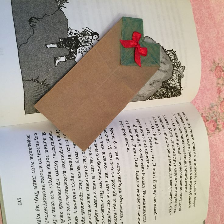 Закладка для книги в технике оригами