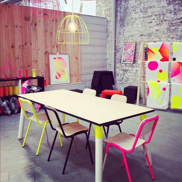 Instagram of the neon-flirting homewares and furniture at Koskela. Photo by managing editor, Lee Tran Lam.