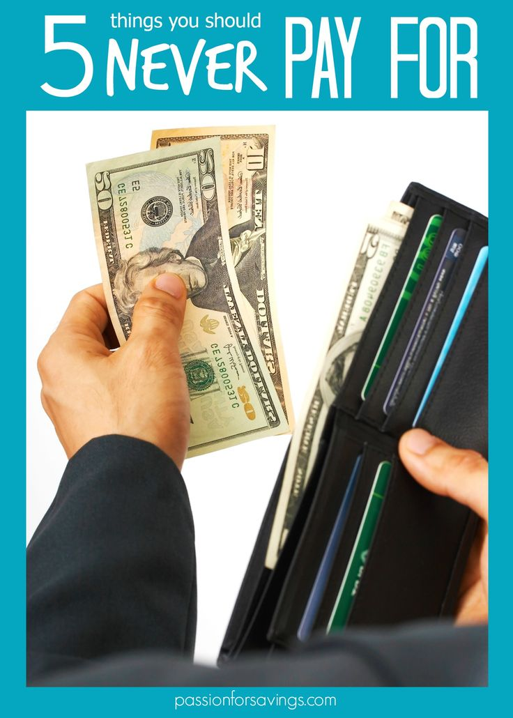 5 things to never pay for! #moneytips