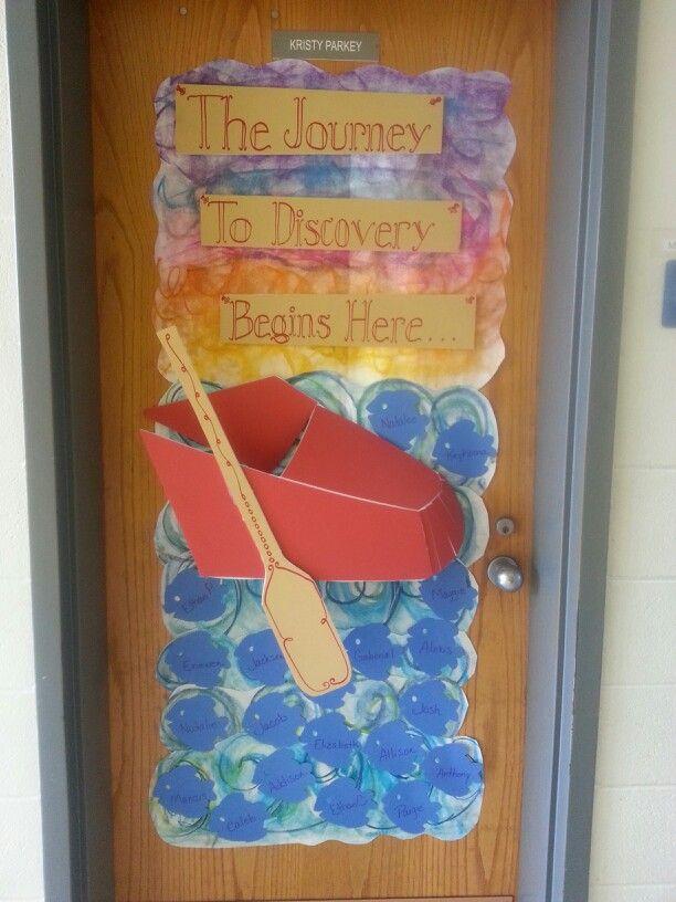 20 best door decorations travel theme images on pinterest for Idea door journey to bethlehem