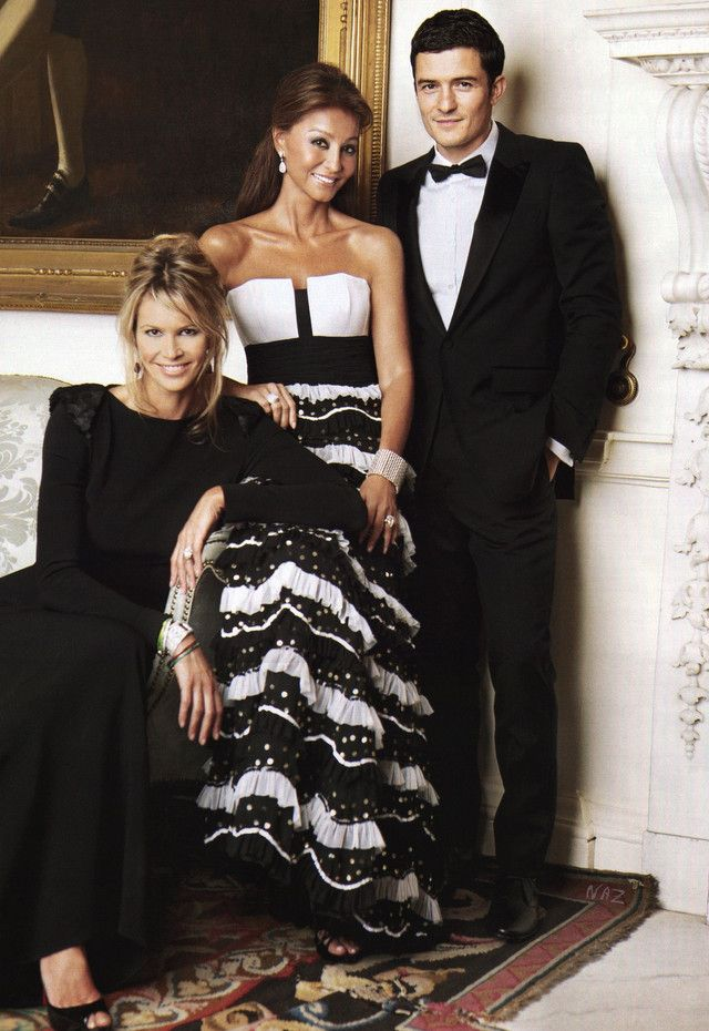 Isabel Presyler y Perez de Tagle with Orlando Bloom and Elle McPherson Haute Couture Fashion, Aging Gracefully, Evening Gowns, Strapless Dress Formal, Fashion Beauty, Celebrity Style, Enrique Iglesias Family, Glamour, Celebrities