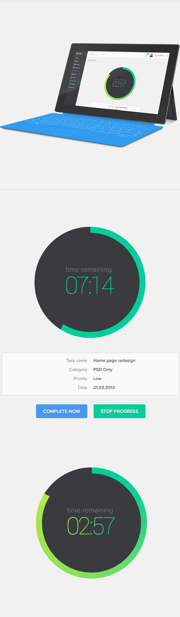 Productivity Platform Todo by Stanislav Kirilov, via Behance