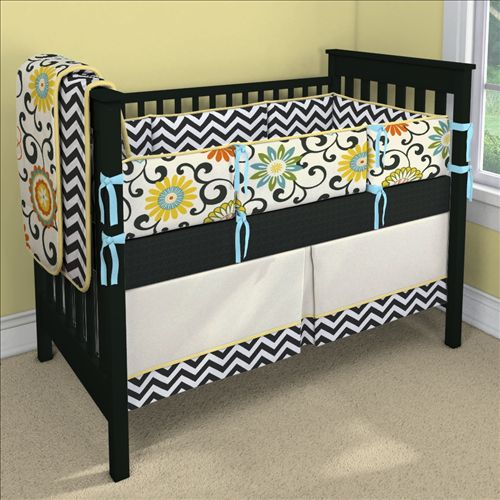 Confetti Custom 4-piece Crib Bedding Set | Confetti Nursery Idea | Carousel Designs