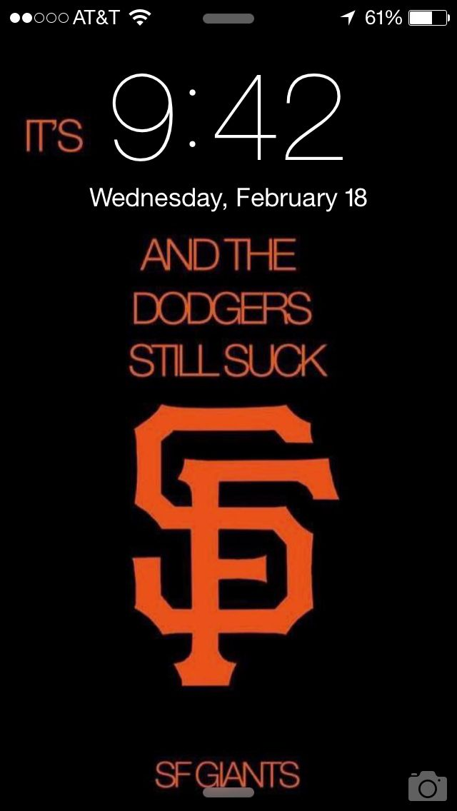 Here's a handy SF Giants logo iPhone wallpaper that will remind you that the Dodgers still suck.