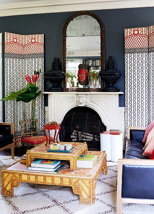 Inside the Unforgettable Home of a Powerhouse Design Duo  Fireplaces ...