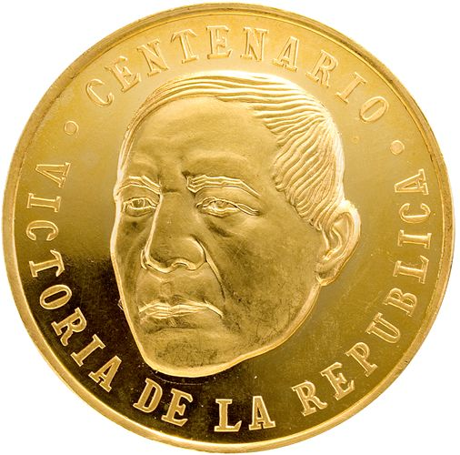 Medallas conmemorativas, oro, Banco de México. Victoria de la República