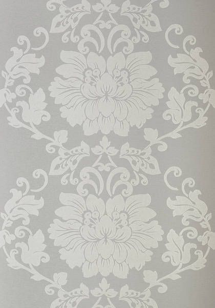 ST. GERMAIN, Grey, AT1461, Collection Lyric from Anna French Thibaut Damask wallpaper