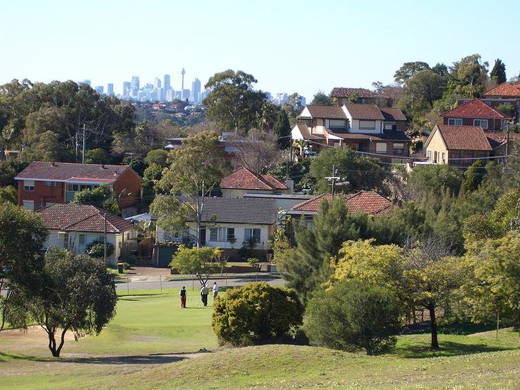 The view of the city from - Bardwell Park