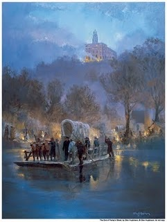 Nauvoo, Illinois-cant find a real picture, but I stood in that very spot, the road just leads right to the water.