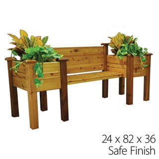 Bench PlanterGardens Ideas, Projects, Planters Seats, Benches Planters, Outdoor, Planters Benches, Red Cedar, Cedar Planters, Gardens Benches