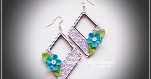 Cercelusi quilling colorati realizati din fasii de 3mm, respectiv 1mm   Unique Quilling Earrings  Handmade with 1mm and 3 mm paper stripe...