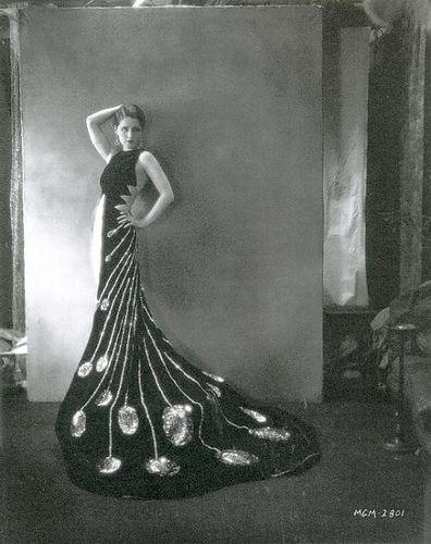 Norma Shearer in an art deco dress