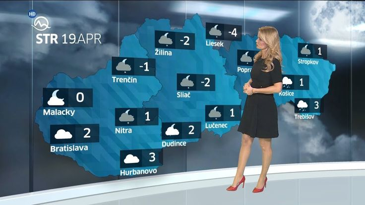 Mirka Almásy Slovakia Weather Presenter 19.4.2017