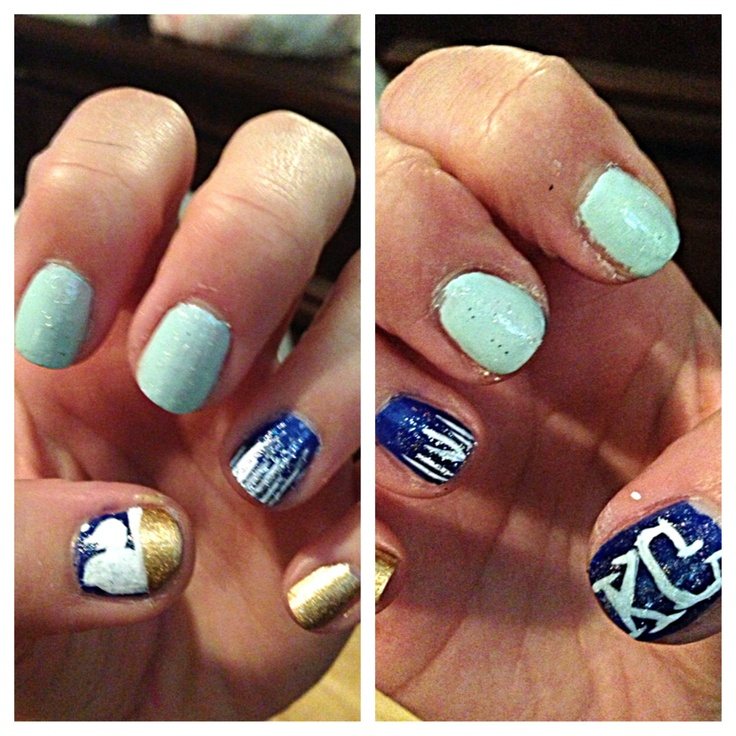 8 best Royals images on Pinterest | Baseball nail art, Baseball nail ...