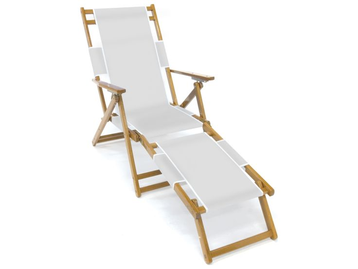 Awesome Frankford Umbrellas Wooden Beach Lounge Chair With Footrest | FC101