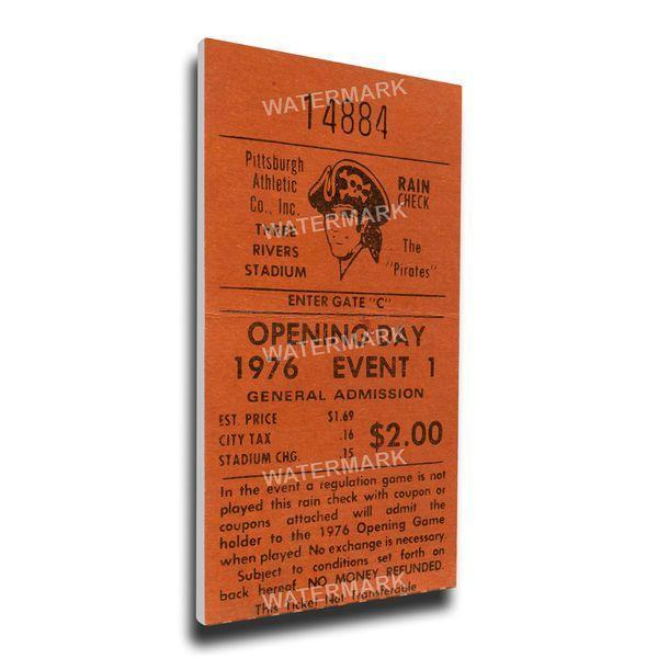 Pittsburgh Pirates 1976 Opening Day Mega Ticket - $89.99