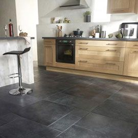 Carrelage multiformat anthracite fiorentina 60 x 60 cm for Carrelage sol interieur noir