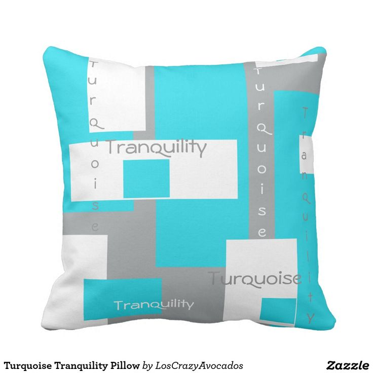 Turquoise Tranquility Pillow