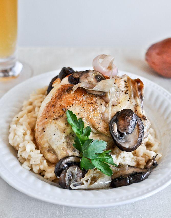 Beer Rosato & Mushroom garlic chicken: Beer Risotto, Chicken Recipe, Fun Recipe, Recipe With Beer, Garlic Chicken, Yummy Recipe, Food, Mushrooms Garlic, Favorite Recipe