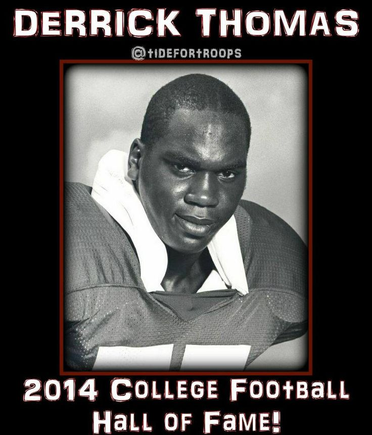 Finally derrick thomas bama football football hall of fame