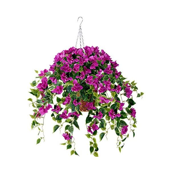 Artificial Faux Hanging Flower Vine Basket Fake Plant  Wall Decor Outdoor Patio