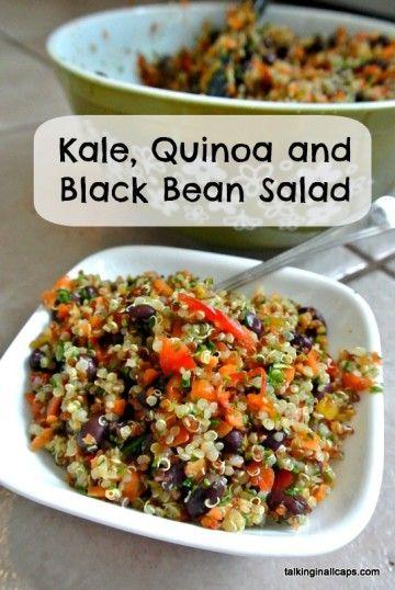 Quinoa and Black Bean Salad | Recipe | Black Bean Salads, Bean Salads ...