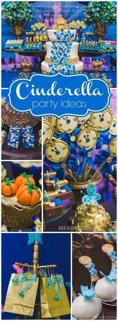 Decoração de festa de 15 anos com o tema Cinderela | Sweet Fifteen + Cinderella theme party