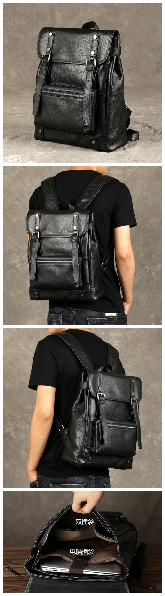 Backpack for Men, Classic Travel Backpack GZ061