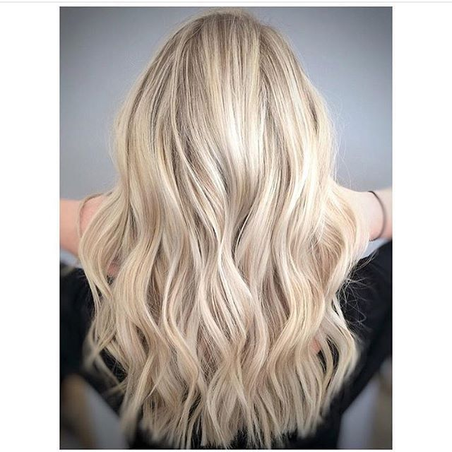 Bright blonde with dimension. Color by @caitlin_does_color #hair #hairenvy…