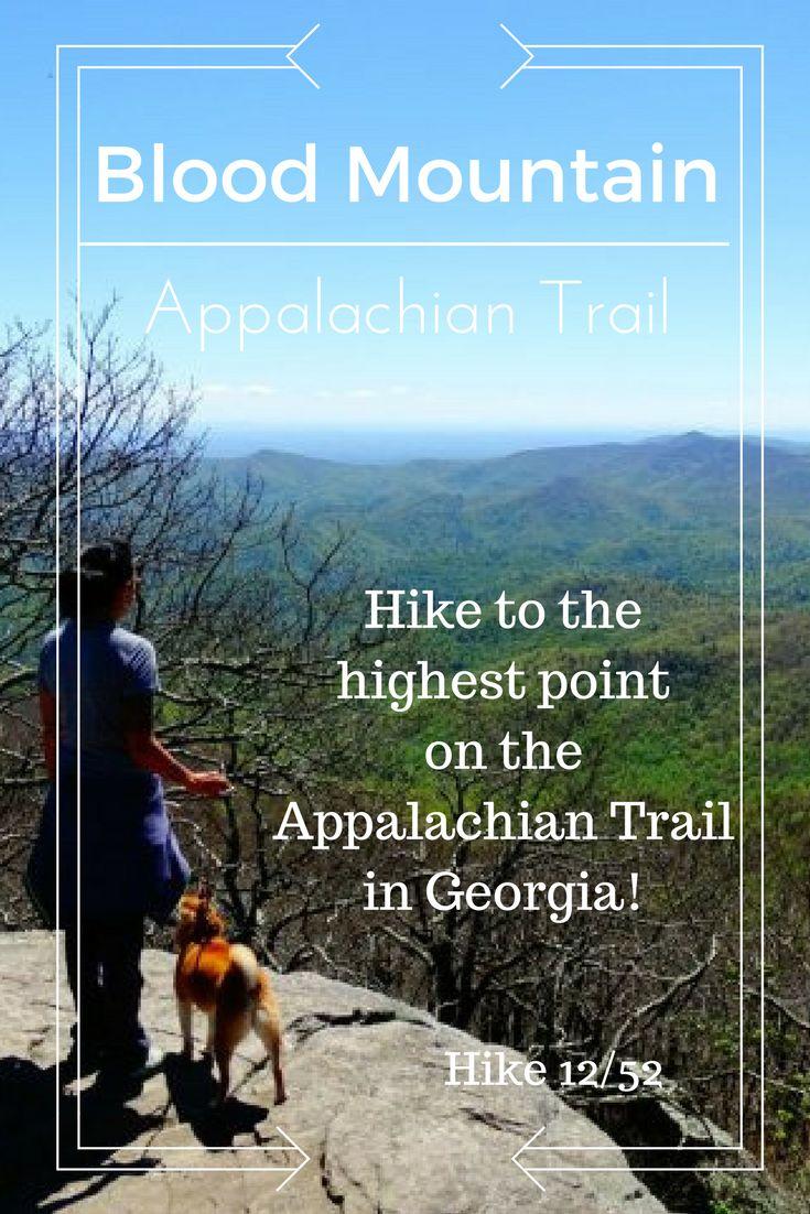 Hike Blood Mountain via the Appalachian Trail in Georgia. The highest point on the Appalachian Trail in Georgia is Blood Mountain! Read about our first time on the Appalachian Trail!