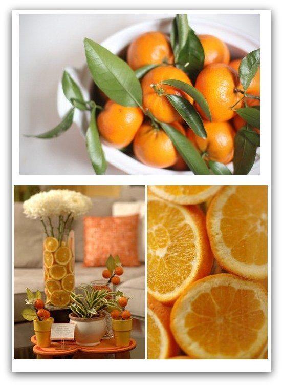 Orange Decor Love The Fruit Decorations!