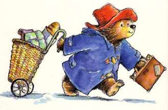 """From deepest darkest Peru."" The first tingle of wanderlust at such a young age. 'Paddington bear'"