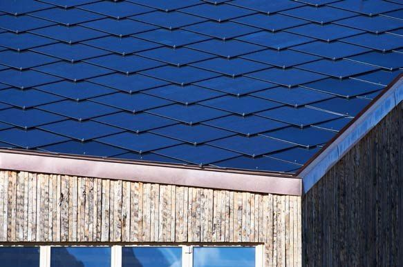 Solar Roof SUNSTYLE®   A fully integrated solar room – allows a variety of room shapes   Photovoltaic roof shingle