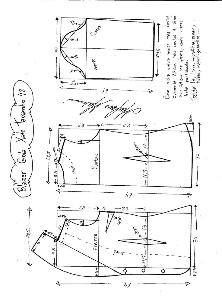Patrón de chaqueta clásica atemporal muy fácil de hacer. Tallas desde la 36 hasta 56.