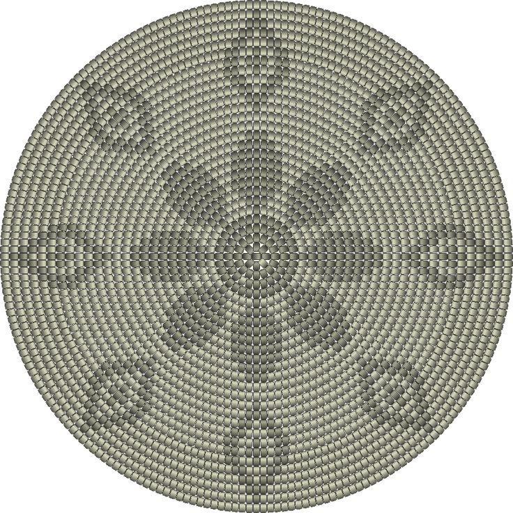 bodem zonnebloem 224steken, 28toeren,2kleuren
