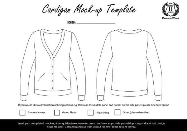 Exodus Wear Cardigan Design Template