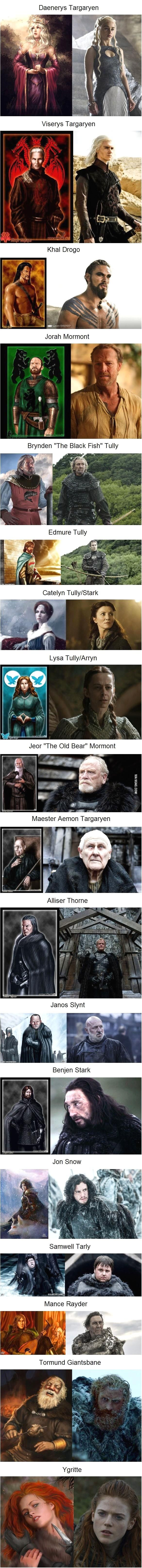 #Game of Thrones Characters: In the Books vs. On the Show…