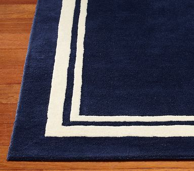 Harper Rug Navy Rug Pottery Barn Kids Rugs On Carpet