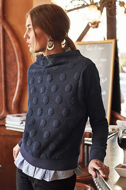 dotted funnel sweater