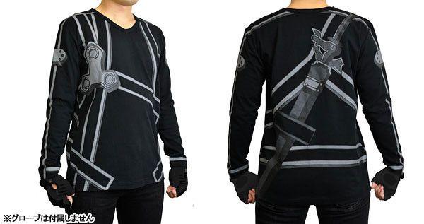 """Ouch $60 Bucks  Crunchyroll - """"Sword Art Online"""" Kirito Cosplay Shirt Scheduled For March"""