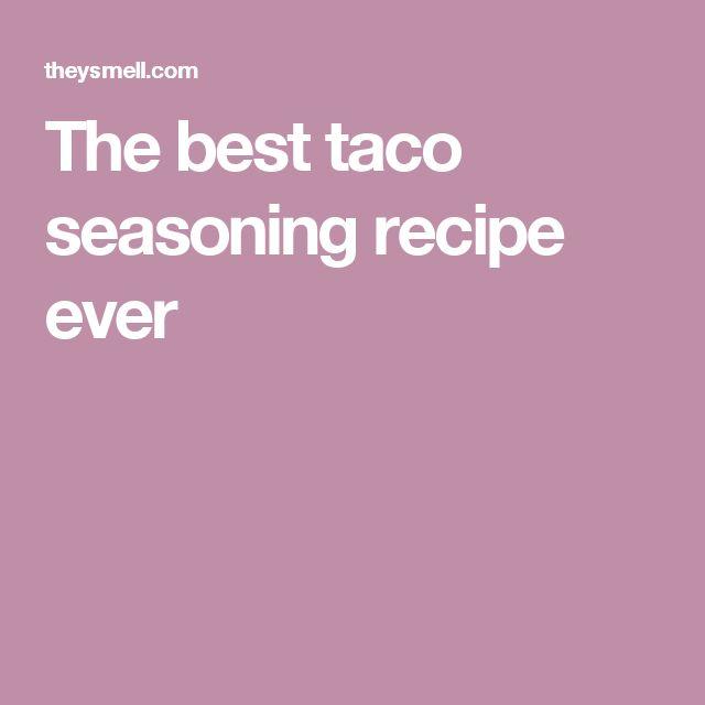Easy taco seasoning recipes