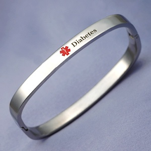 My Diabetes medical alert bracelet. Very comfortable to wear.