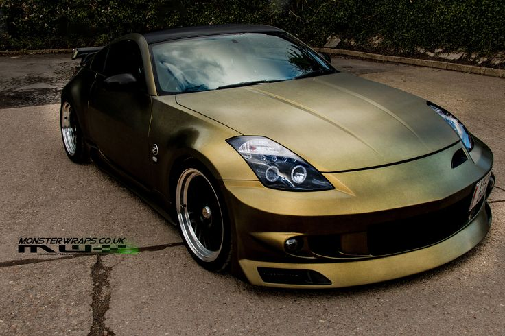 Nissan 350z Brushed Gold And Black Wrap Pic From Sean