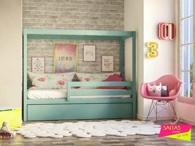 Ονειρεμένο κρεβάτι για κορίτσια με μεγάλη φαντασία