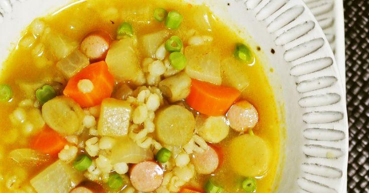 押し麦と実沢山の根菜スープ by kebeibiko [クックパッド] 簡単おいしいみんなのレシピが255万品