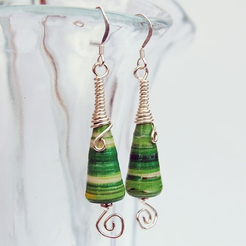 Paper beads with a twist :) - JEWELRY AND TRINKETS