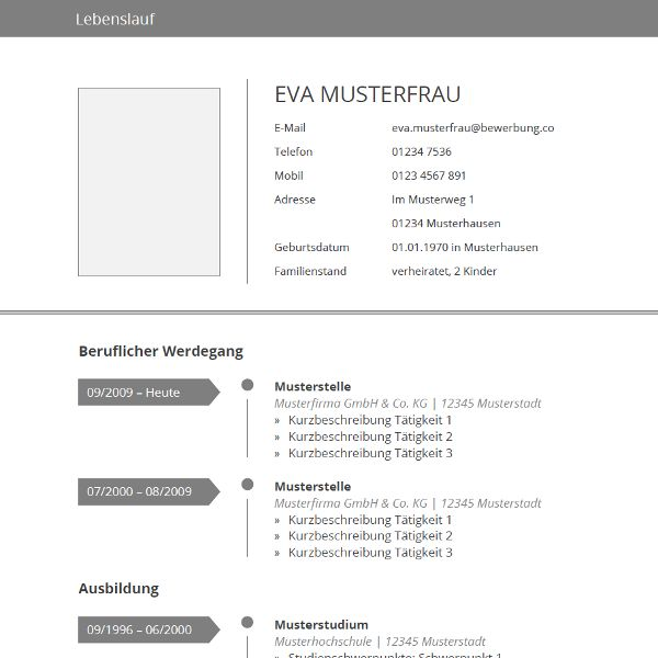 52 best Lebenslauf Muster \ Vorlagen images on Pinterest Cv - resume template for wordpad