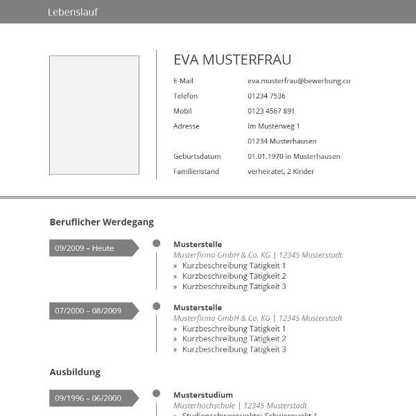 1000+ Ideas About Moderner Lebenslauf On Pinterest   Bewerbung