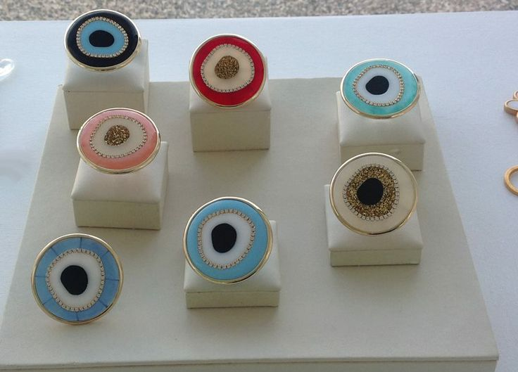 Evil Eye Rings .Make your own style!!
